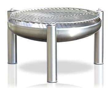Barbacoa de acero inoxidable, diámetro de 60 cm, diámetro, fabricación alemana