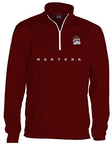 NCAA Montana Grizzlies Quarter Zip Poly Fleece, X-Large, Maroon