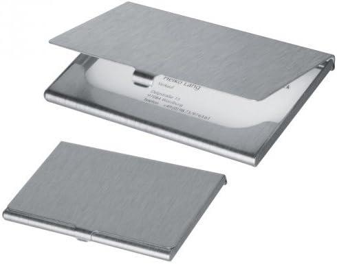 Visitenkartenetui Aluminium gebürstet wahlweise mit oder ohne Gravur, Auswahl Gravur:Ohne Gravur
