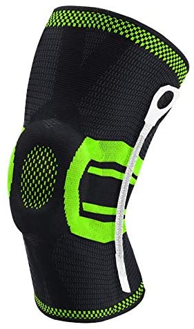 New Compression Knee Brace Knee Sleeve Best Knee Pads Support Running Basketball Workout Sports Kneepads 1pcs, XL