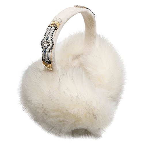 HIPANEMA X AMENAPIH Russia Faux Fur Ear Muffs in White