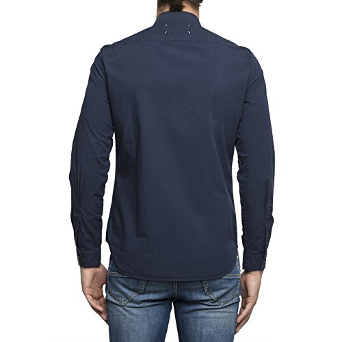 Maison Margiela Herren S50DL0285S43001524 Blau Baumwolle Hemd