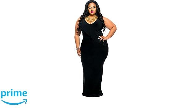 Nueva mujer Plus color negro Reversible moviepostersdirect volantes y pedrería vestido de fiesta vestido desgaste talla 18-20: Amazon.es: Bricolaje y ...