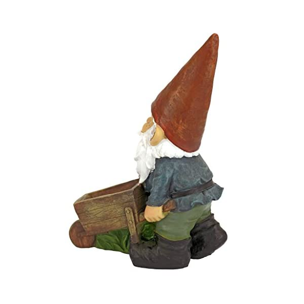 Garden-Gnome-Statue-Wheelbarrow-Willie-Gnome-Bird-Feeder-Lawn-Gnome
