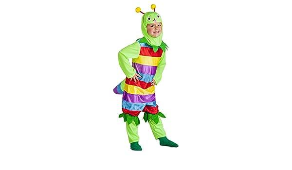 Disfraz de Gusano Multicolor Infantil (7-9 años): Amazon.es ...