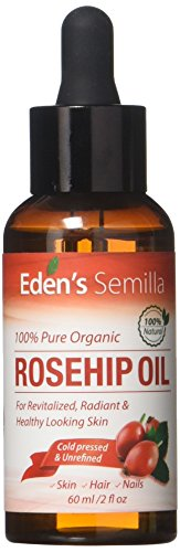 100% Pure Rosehip Oil - 60ml - Certified ORGANIC - Revitalises Skin & Hair...