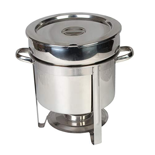 stainless steel 11 quart round marmite chafer, comes in each