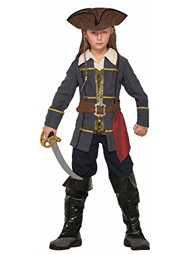 Forum Novelties Kids Captain Cutlass Costume, Multicolor, Medium