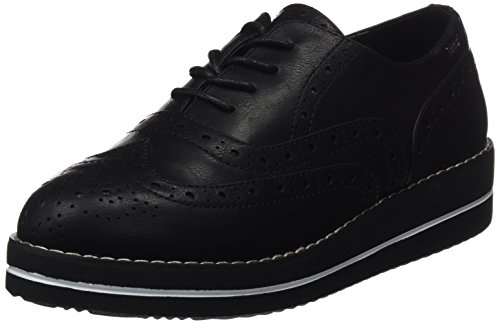 Camila Oxford Negro Negro Zapatos Mujer sintetico De Mtng Para Cordones vxpZZag