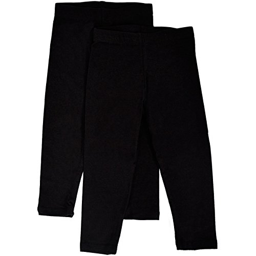 Stretch is Comfort Girl's Infant Leggings 2 - Pack Black S 6M