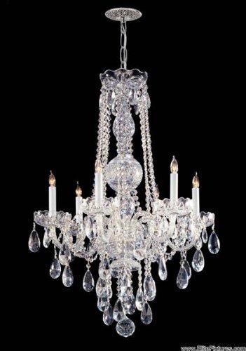Traditional Crystal 6 Light Chandelier Crystal Type: Swarovski Strass, Finish: Polished - Crystal Lamp Chandelier Strass