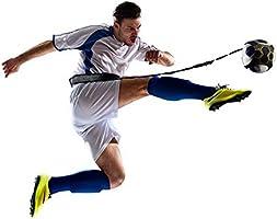 Football d'entraînement Ceinture, Aodoor Ballon de football d'entraînement avec Ceinture Ajustable et Elastique pour Enfant et Adulte, Entraineur de