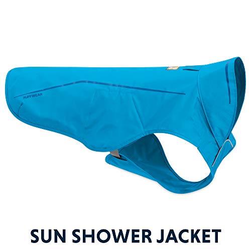 - RUFFWEAR - Sun Shower Lightweight Waterproof Rain Jacket for Dogs, Blue Dusk, Medium