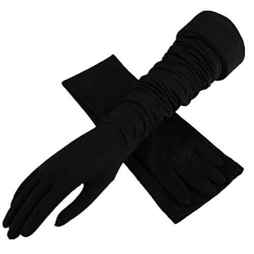 Chfun Unisex Extra Long Anti-UV Breathable Sun Block Wedding Touchscreen Strechy EvenIng Glove