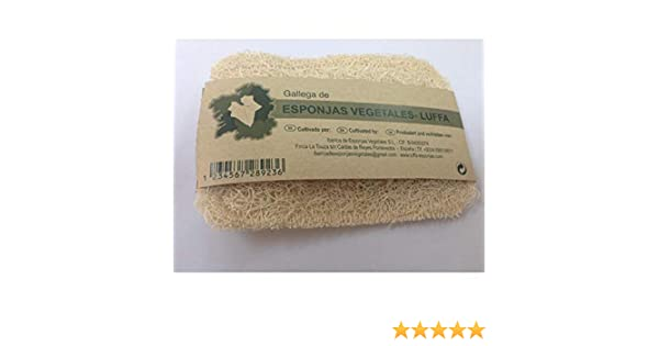 Estropajo natural de luffa, Vitroesponja vegetal.