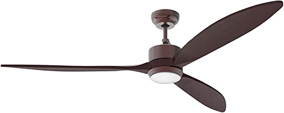 Dimming and Color Temperature Adjustment Manually Increase Angle 3-speed reiga 86 Oil-rubbed Bronze Quiet Motor Dual Ceiling Fan with LED Light Kit Remote Control