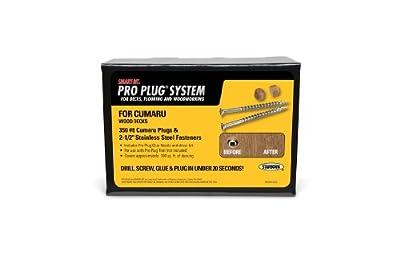 "PRO PLUG SYSTEM - Plug & Fastener Kit for CUMARU - 350 count for 100 sq. ft.- plugs 5/16"" diameter"