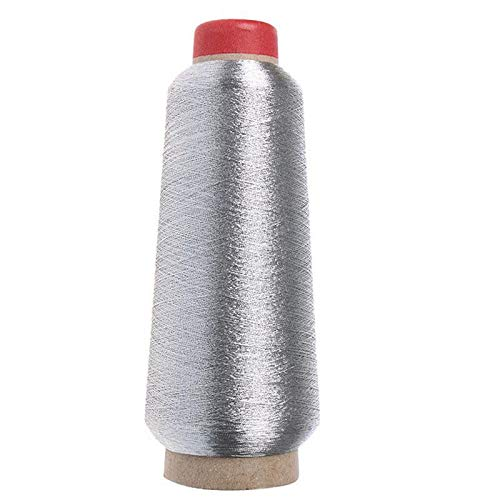 150d Sewing Machine Cone Threads Polyester Overlocking All Purpose Golden Silver Color Sewing Thread ()