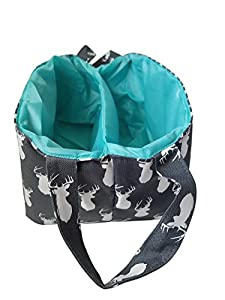 Diaper Storage Caddy By Danha – Portable Diaper Bag And Stacker With Beautiful Grey Deer Unisex Design – Changing Table Storage Basket And Nappy Caddy from Danha