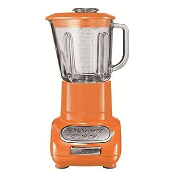 KitchenAid 5KSB5553ETG - Batidora de vaso, con capacidad del tazón de 0.75 l, 550 W, 220-240 V, color naranja: Amazon.es: Hogar