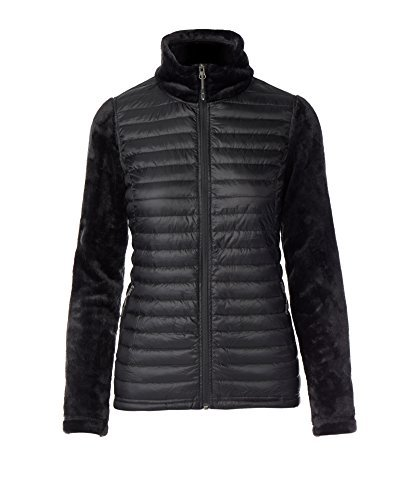 32 DEGREES Women's Luxe Fur Mix Media Jacket - Black XLarge