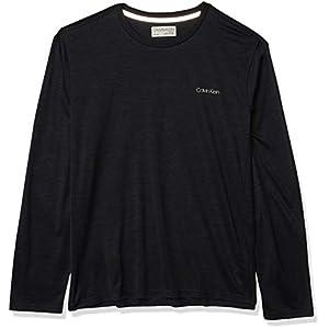 Best Epic Trends 416cnHR--HL._SS300_ Calvin Klein Men's Move 365 Long Sleeve Quick Dry Moisture Wicking Logo Crewneck T-Shirt