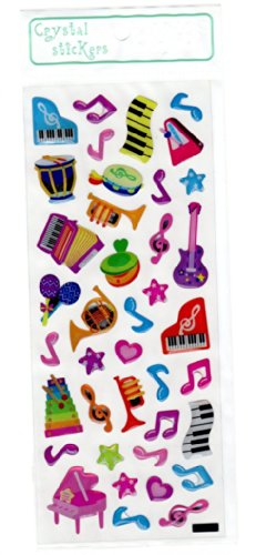 Crystal Stickers - Music themed Colourful Musical