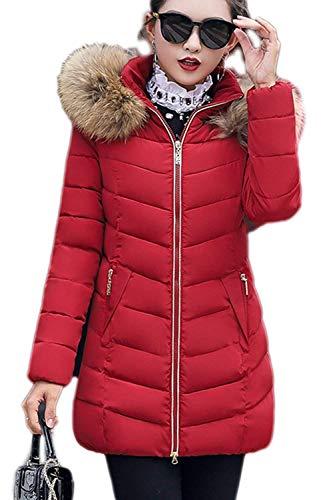 Outdoor Chaud Doudoune Fourrure avec Fit Manteau Hiver Fashion Capuchon Oversize Femme El Long Slim Parka 7BWFFqf4