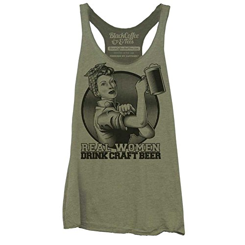 Craft Beer Drinking Women's Tank top - Army Green - - Shirt Craft