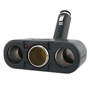Insten Three-Way Car Cigarette Lighter Socket Splitter, Black