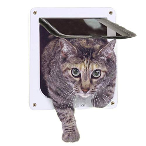 Playpens Convenient Pet Door Cat Hole, Fast Installation Easy Fitting Cat Flap for All Pets