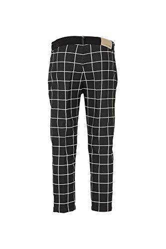 Ljp276 Pantalones Cuadrados Relajado Cafè Negro Noir 5EOq4xw0x