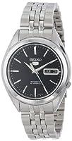 Seiko Men's SNKL23 Seiko 5 Automatic Black Dial Stainless-Steel Bracelet Watch by Seiko