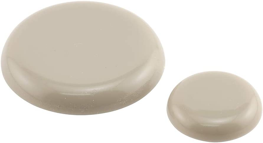 PRIME-LINE 1 in. and 1-3/4 in. Adhesive Round Beige Plastic Sliders for Table and Chairs (20-Pack) (MP75290)