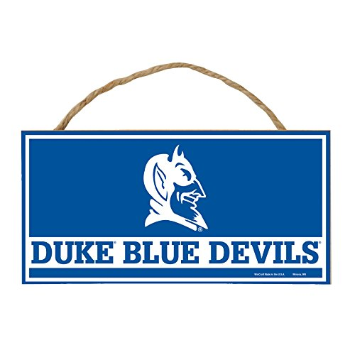 Dukes Rope - WinCraft NCAA Duke Blue Devils Hardboard Wood Signs with Rope, 5 x 10-Inch, Multi