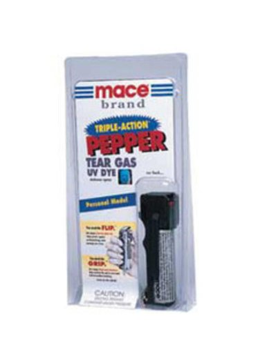 Mace Brand Police Strength Pepper Spray In A Leather Case with Key Ring