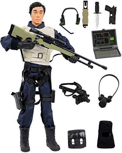 12 Inch Figures Military (Click N' Play Police Force Sniper 12