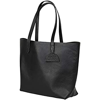19e5eb7f89a0 Leather Tote Bag for Women. Made with Genuine Leather. This Extra Large  Black Tote