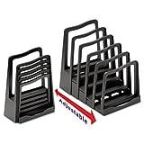 - Adjustable File Rack, Five Sections, 8 x 10-3/4 x 11-3/4, Black