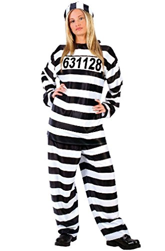 8eighteen Prison Convict Jailhouse Honey Inmate Adult Costume (Convict Lady Plus Size Costume)