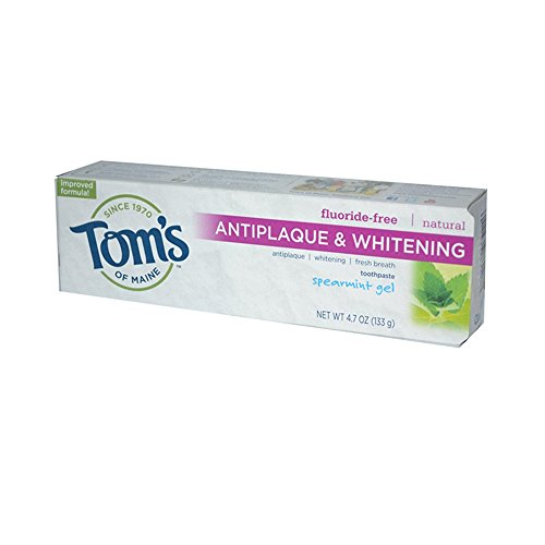 Tom's of Maine Wholesale Antiplaque and Whitening Toothpaste Spearmint Gel - 4.7 oz - Case of 6, [Health & Beauty, Oral Care]