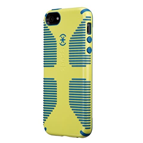 Speck Products CandyShell Grip Case for iPhone 5 & 5S - Lemongrass Yellow/Harbor Blue (Iphone 5s Speck Candy Case)