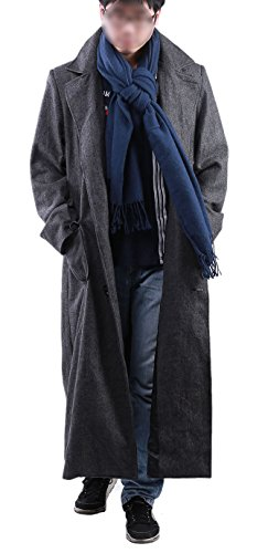 Sherlock Coat Woolen Trench Jacket Male Costume with Scarf M by Lightway