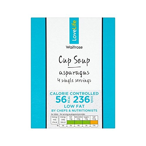 You Count Asparagus Cup Soup Waitrose Love Life 60g - Pack of 4