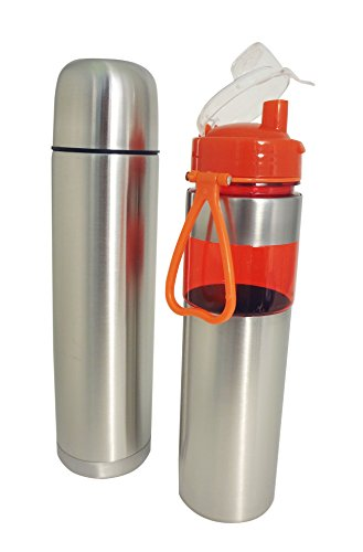 2 Pack Orange Set Stainless Steel Coffee Cold Hot Travel