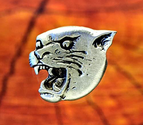 Cougar, Panther, Jaguar, Mountain Lion Pin | Big Cat Lapel pins in Fine Pewter