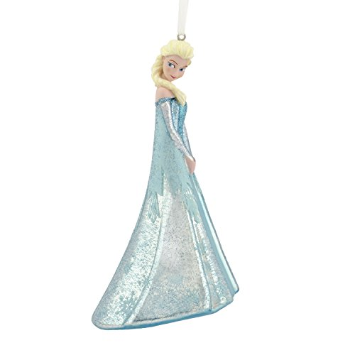 Tree Blown Glass Ornament (Hallmark Disney Frozen Elsa Blown Glass Christmas Ornament)