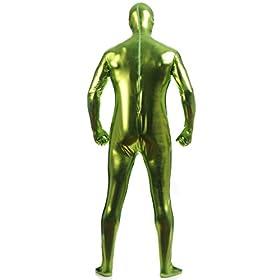 - 416criN32KL - Ensnovo Mens Shiny Metallic Zentai One Piece Spandex Skin Suits Costume