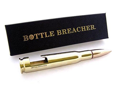 Buy 50 Caliber Bottle Breacher Bottle Opener in Polished Brass with Gift Box offer