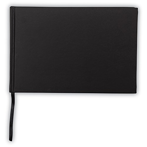 Black Guest Book – Hardcover Guest Book with Lines for Name, Address and Notes - 9
